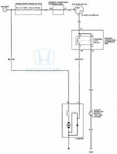 Honda Accord  Circuit Diagram - Starting System