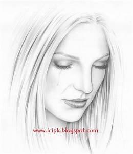 how to draw a cartoon girl   beautiful-sad-girl-drawing ...