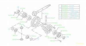 Subaru Outback Manual Transmission Differential  Set