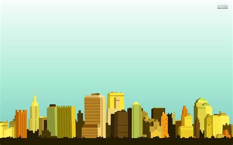Animated City Wallpaper - wallpapers 1024x1024 vector city skyline