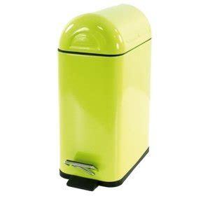 poubelle cuisine verte poubelle wc salle de bain colours métal 5l vert
