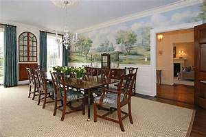 Federal Colonial Restoration Traditional Dining Room