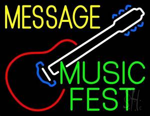 Custom Music Fest Green Neon Sign Custom Neon Signs Every