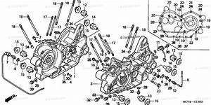 Honda Motorcycle 2003 Oem Parts Diagram For Crankcase