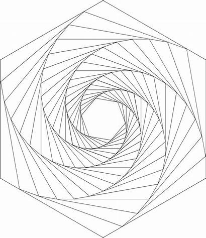 Geometric Drawing Drawings Coloring Paste Patterns Pages