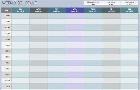 weekly employee shift schedule template excel planner