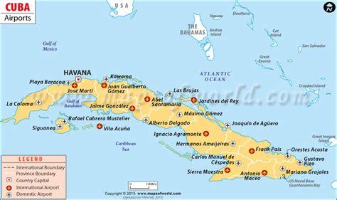 Cuba Vacation Spots Map