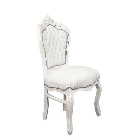 chaise baroque blanche chaise baroque banche en simili cuir meubles baroque