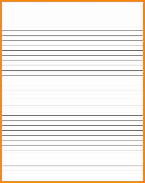 Lined Paper Template 7 Microsoft Word 2010 Lined Paper Template Ledger Paper