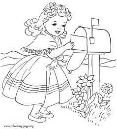 Cute Little Girl Coloring Pages