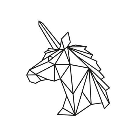 cadres cuisine stickers licorne origami optimistick