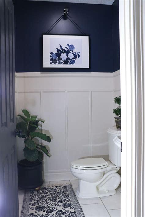 navy bathroom makeover navy bathroom diy bathroom