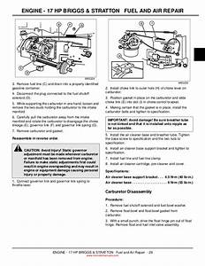 33 John Deere L110 Carburetor Diagram