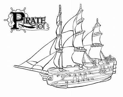 Pirate Ship Coloring Galleon Bateau Pages Coloriage