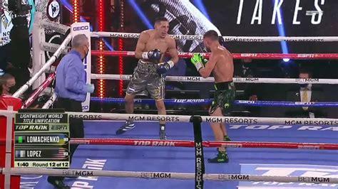 lomachenko  lopez full fight video highlights fightmag