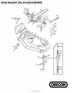 Oregon Scag Parts Diagram For Scag Wildcat 52a  61a Deck Mower
