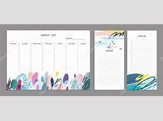 Weekly Planner Template Organizer and Schedule — Stock
