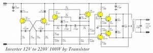 Transistor Inverter Circuit 12v To 220v 100w