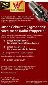 Radio Wuppertal Rechnung : radio wuppertal sucht nachrichtenredakteur in reporter in und volont r in radioszene ~ Themetempest.com Abrechnung