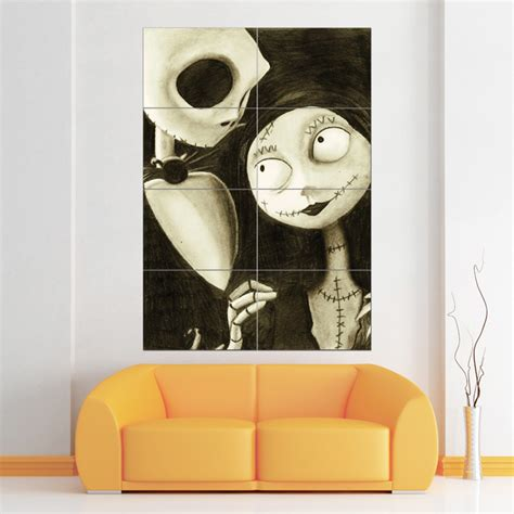 nightmare before christmas block giant wall art poster