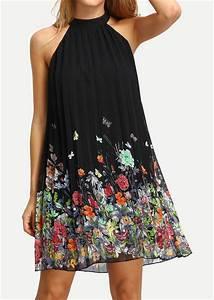 floral ruffled sleeveless fashion mini dress fairyseason With robe d été fluide
