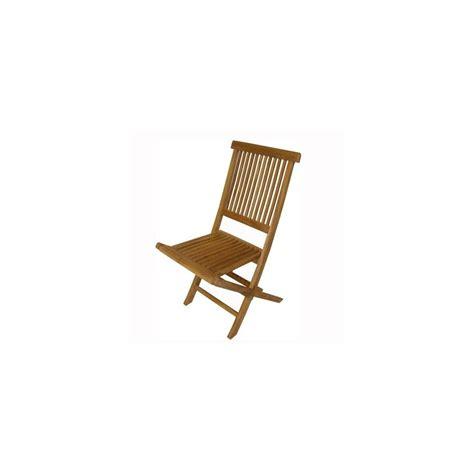 chaise en teck pliante chaise pliante en teck tinos naturel lot de 2