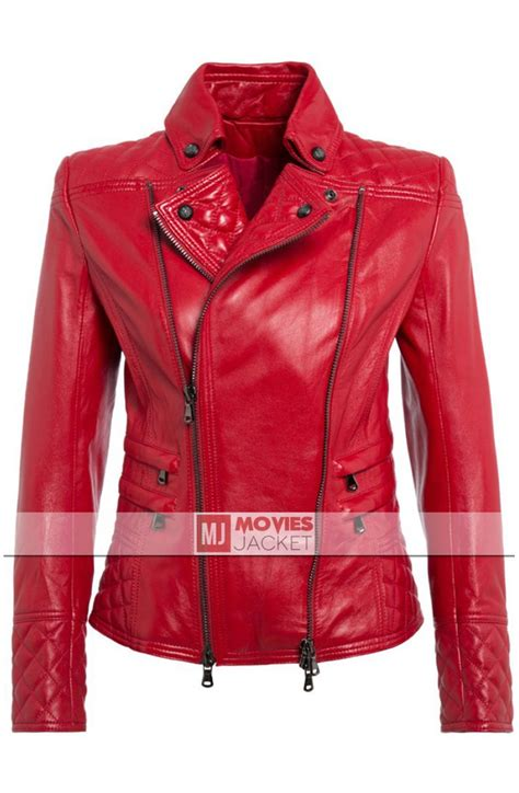 red leather motorcycle jacket pierre women 39 s red leather biker jacket