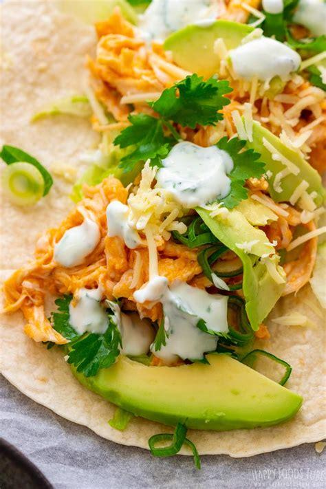 buffalo chicken tacos recipe happy foods tube