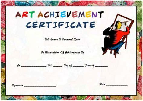 art achievement certificate template art certificate