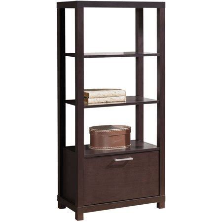Walmart Bookcase With Glass Doors by Acme Carmeno Bookcase With 3 Shelves And Door Espresso
