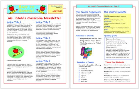 13 Free Newsletter Templates You Can Print Or Email As Pdf