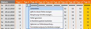 Kalenderwochen Berechnen : excel 2010 mit der 21 zur exakten kalenderwoche office ~ Themetempest.com Abrechnung