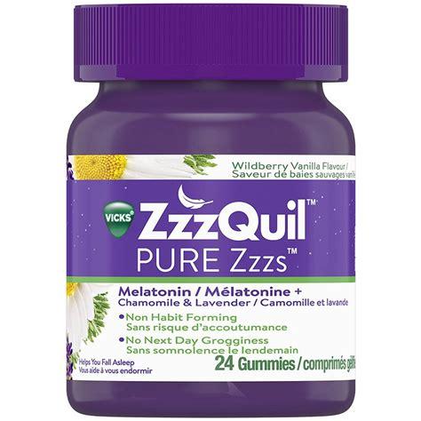 zzzquil melatonin pure gummies lavender zzz camomile zzzs care health londondrugs