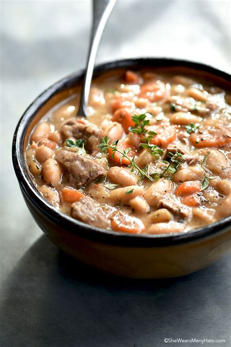 soup beans beef and bean soup recipe she wears many hats