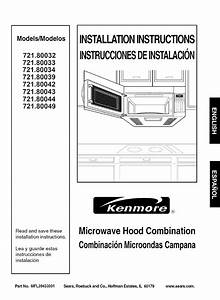 Kenmore Microwave Oven 721 80044 User Guide