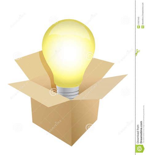 box and light bulb illustration stock photos image 21937443