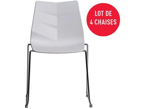 canapé nelson conforama lot de 4 chaises nelson coloris blanc vente de chaise