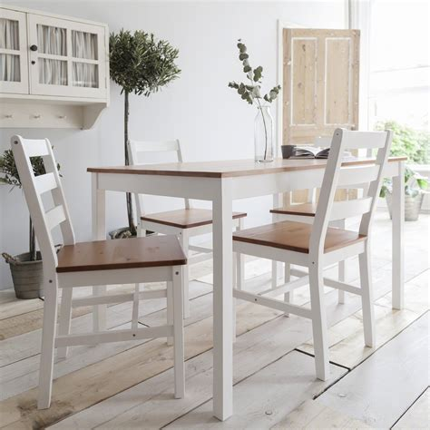 white wood dining white wooden dining table and 4 chairs set ebay