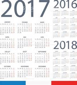 French Calendar 2017 2018