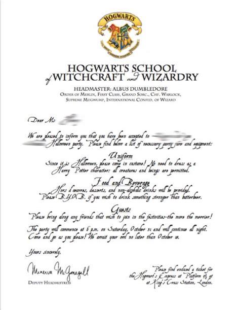 Hogwarts Letter Template Best 20 Hogwarts Letter Template Ideas On