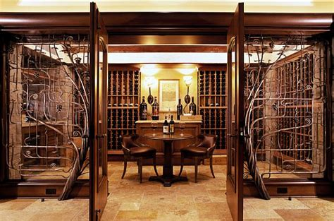 Rustic Basement Bar by Inspiring Wine Cellar Designs