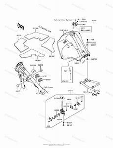 Kawasaki Motorcycle 2016 Oem Parts Diagram For Fuel Tank