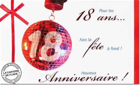 carte anniversaire 18 ans livraison gratuite - Modele De Carte Anniversaire 18 Ans