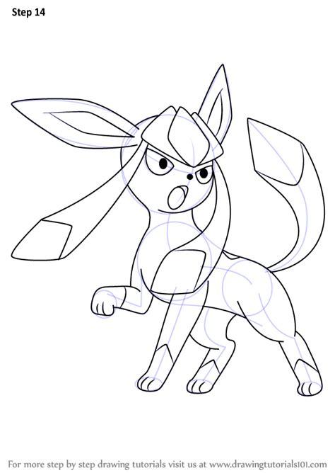 step  step   draw glaceon  pokemon drawingtutorialscom