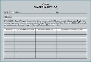 29 images of osha form 300a template bosnablogcom With sharps injury log template