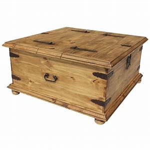 Rustic pine collection trunk coffee table cen09 for Mexican trunk coffee table