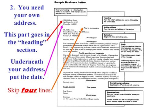 how do you address a business letter the best letter sle
