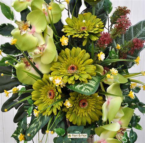 piante e fiori finti bouquet fiori artificiali gerbera verde per cimitero