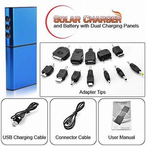 Solar Charger and Battery for Cell Phones and USB Device (Dual Charging Panels) [THF S27] US$14 24