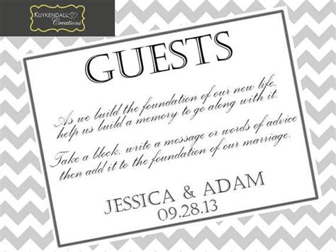 Jenga Guest Book Sign Digital File By Kuykendallcreations